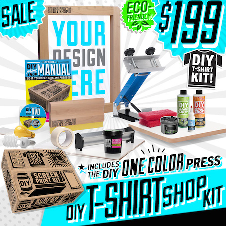 Diy print shop original t shirt screen printing kit made for Diy screen printing t shirts